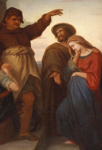 detail from the painting 'Josef und Maria auf Herbergsuche' by Carl Rahl, 1865; swiped from Wikimedia Commons