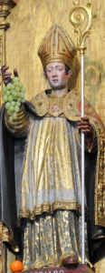 photograph of a statue of  Saint Geraldo in Saint Geraldo Chapel, Braga, Cathedral, Portugal; take on 5 December 2008 by Joseolgon; swiped off the Wikipedia web site