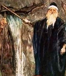 Moses striking the stone
