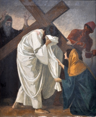 Sixth Station - Veronica Wipes the Face of Jesus
