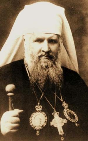photograph of Archbishop Andrzej Szeptycki; taken in Rome, Italy, 1921, photographer unknown; swiped from Wikimedia Commons