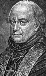 detail of a portrait of Archbishop John Carroll, from 'Defenders of the Faith', by John Dawson Gilmary Shea, 1892, artist unknown