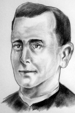 illustration of Blessed Amado García Sánchez, date and artist unknown; swiped from Santi e Beati; click for source image