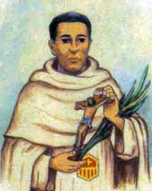 detail of an Italian holy card of Blessed Amancio Marín Mínguez by Bertoni, date unknown; swiped from Santi e Beati