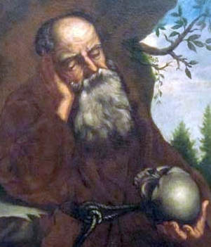 detail of an 18th century portrait of Blessed Bernard Perani, artist unknown; Krško Capuchin Monastery; swiped from Wikimedia Commons
