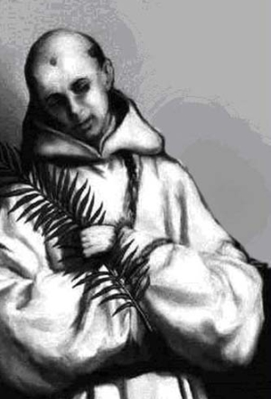 illustration of Blessed Claude Beguignot, date and artist unknown; swipe from Santi e Beati; click for source images