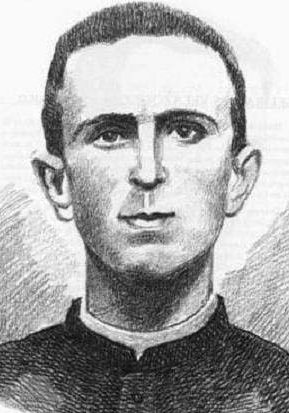 detail of an illustration of Blessed Felipe Hernández Martínez, date and artist unknown; swiped from Santi e Beati