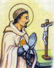 detail of a holy card of Blessed Giusto Santgelp; swiped from Santi e Beati