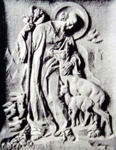 photograph of a bas-relief of Saint Gunther; thanks Zuzana