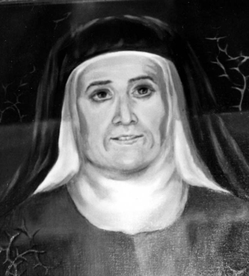detail of a portrait of Blessed Josefa Pilar García Solanas, date and artist unknown; swiped from Santi e Beati; click for source image