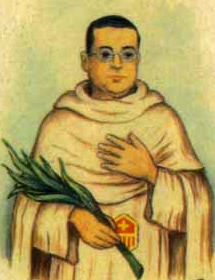 detail from an Italian holy card of Blessed Josep Reñé Prenafeta by Bertoni, date unknown; swiped from Santi e Beati