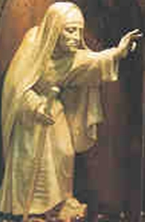 photograph of a statue of Blessed Margaret at the Saint Louis Bertrand Church, Louisville, KY, date unknown, sculptor unknown, photographer unknown; swiped off the Saint Louis Bertrand Church web site