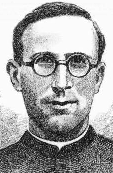 illustration of Blessed Miquel Domingo Cendra, date and artist unknown; swiped from Santi e Beati