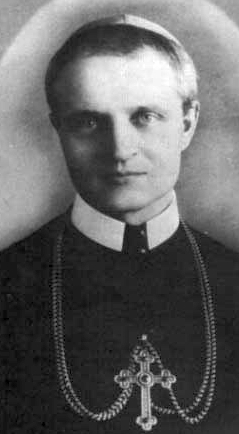 detail of a photograph of Blessed Pavol Gojdic, date and location unknown; swiped from Santi e Beati