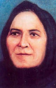 detail of the beatification portrait of Blessed Rita Amada de Jesus; swiped off the Vatican web site; click for source image