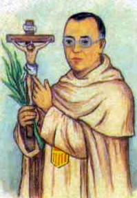 detail of an Italian holy card of Blessed Tomás Campo Marín by Bertoni, date unknown; swiped from Santi e Beati