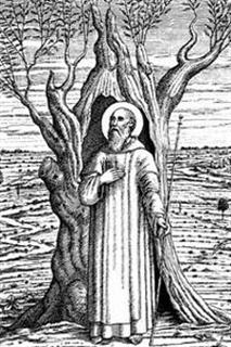 detail from an 1860 holy card of Saint Gerlach, artist unknown; swiped from Wikimedia Commons