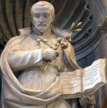 detail of a sculpture of Saint Anthony Mary Zaccaria, by Cesare Aureli, 1909; Saint Peter's Basilica, Vatican City, Rome, Italy; swiped from Wikimedia Commons