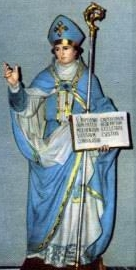 statue of Saint Athanasius of Naples, date and artist unknown; swiped from Santi e Beati