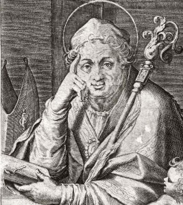 detail of an illustration of Saint Augustine of Canterbury, date unknown, artist unknown