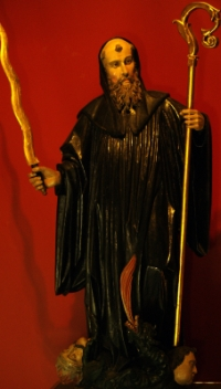 statue of Saint Emilian Cucullatus, Monasterio de San Millan, artist unknown; photograph taken in 2008 by Cenobio; swiped off Wikipedia