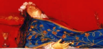 detail of the reliquary of Saint Faustina of Cyzicus; swiped from Santi e Beati