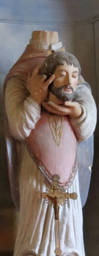 statue of Saint Firminus of Amiens; date unknown, artist unknown, location unknown; photographed on 29 July 2012 by Giogo; swiped from Wikimedia Commons; click for source image