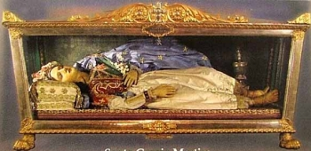 photograph of the reliquary of Saint Grazia, date unkown, artist unknown, photographer unknown; swiped from Santi e Beati