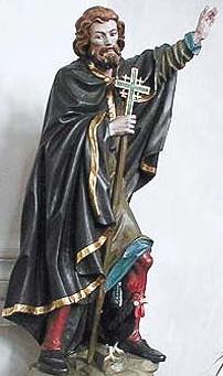 statue of Saint Heimrad, date, artist and location unknown; swiped from Santi e Beati