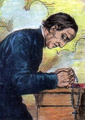 detail of an illustration of Saint John Plessington, date and artist unknown; swiped from Santi e Beati