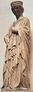 marble statue of Saint Reparata by Anrea Pisano