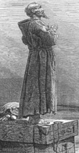 illustration of Saint Simeon Stylites; from 'Little Pictorial Lives of the Saints'