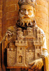 15th century statue of Saint Theodore in Saint Theodore's church, Pavia, Italy, photographer unknown