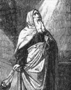 illustration of Saint Theodosius the Cenobiarch; from 'Little Pictorial Lives of the Saints'