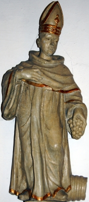 wooden statue of Saint Wigbert of Fritzlar, c.1700, artist unknown, church of Saint Mary in Burlo, Germany