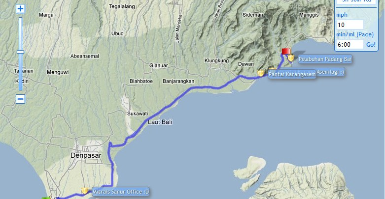 Jalur Kuta (bali) - Padang bai(bali)