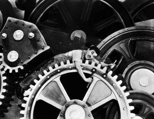 Tempos Modernos, Charles Chaplin, 1936