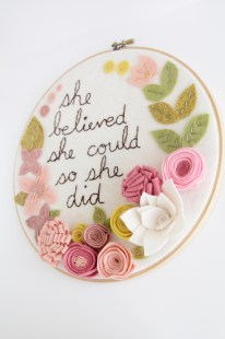 She Believed She Could So She Did - Inspirational Wall Art