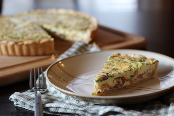 Easter brunch quiche