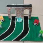 Petit pont, voie verte et zone pavillonnaire