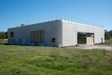 Structure béton armé de la salle 7-77 en chantier