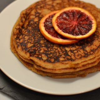 Paleo Pancakes with Roasted Blood Oranges