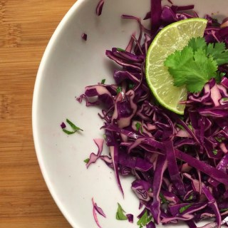 Red Cabbage and Cilantro Crunchy Slaw