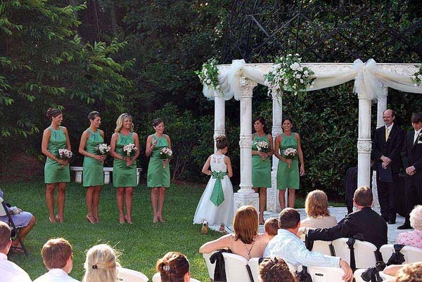 Outdoor Ceremony at Cavender Castle Gazebo