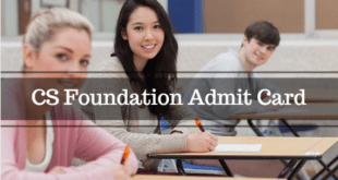 CS Foundation Admit Card Dec 2016