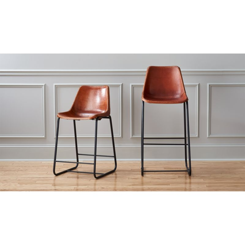 Tan Leather Bar Stools CB283