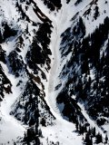 Wet loose avalanches can have high consequences this type of terrain