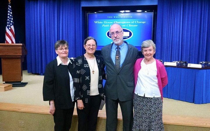 CCW core member, Joan Brown, honored at the White House