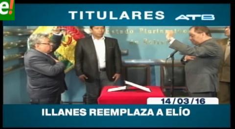 Titulares de TV: Rodolfo Illanes fue posesionado como viceministro de Gobierno