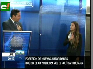 Arce posesiona a Viceministra de Política Tributaria y a Autoridad de Impugnación Tributaria